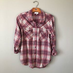 Lucky Brand Lightweight Flannel Button Down Small